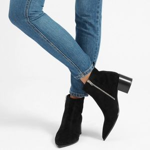 Everlane The Boss Boot in Black Suede Size 5